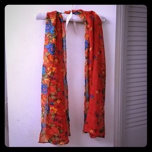 Accessories - New. Red floral scarf
